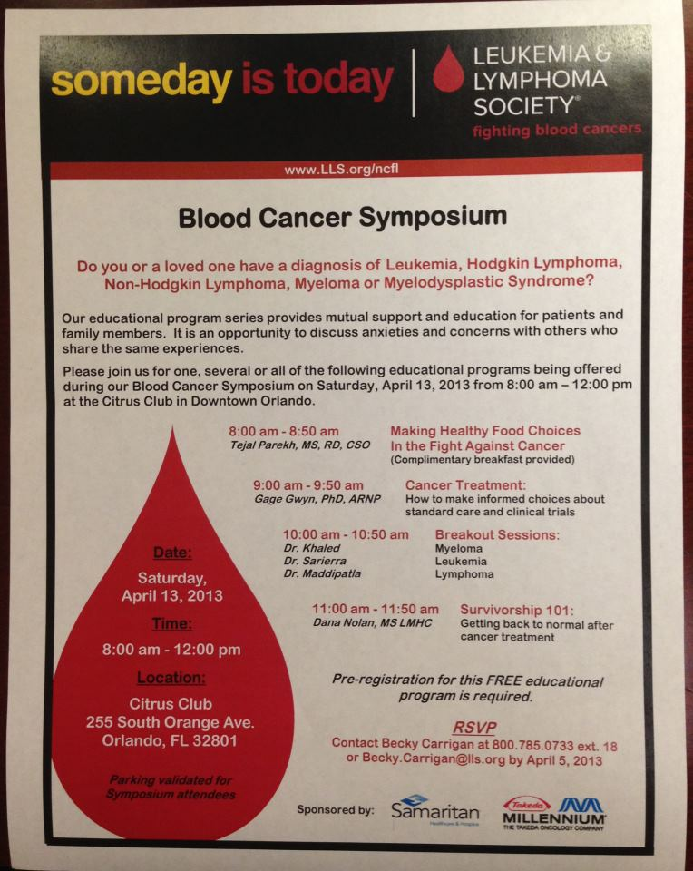 blood cancer lecture orlando florida